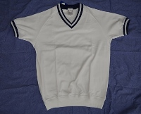 半袖シャツ・ユニチカ・H310 白xネイビー