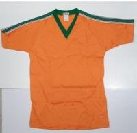 半袖Vネックシャツ・スクールユニ オレンジ