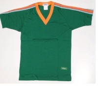 半袖Vネックシャツ・スクールユニ ローレルグリーン